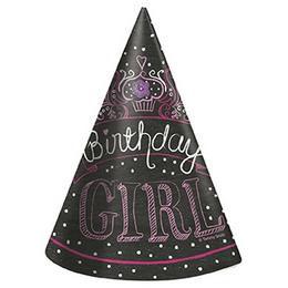 Birthday Sweets Szülinapi Parti Kalap - 8 db-os