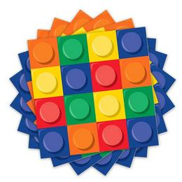 Block Party - Lego Parti Szalvéta - 16 db-os, 33 cm x 33 cm