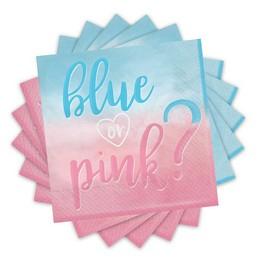 Blue or Pink Parti Szalvéta Babaszületésre