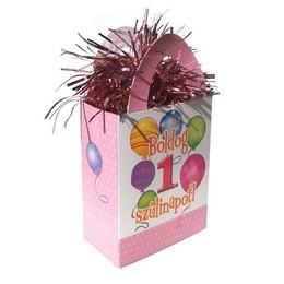 Boldog 1. Szülinapot! Rózsaszín Lányos Ajándéktasak Léggömbsúly