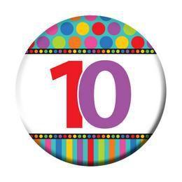 10-es Szülinapi Számos Kitűző