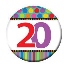 20-as Szülinapi Kitűző