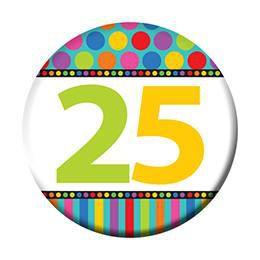 25-ös Szülinapi Kitűző