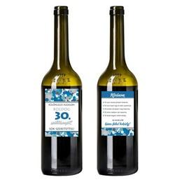 Boldog 30. Születésnapot! Kék Konfettis Boros Üveg Címke
