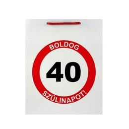Boldog 40. Szülinapot Feliratú Szülinapi Ajándéktasak