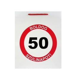 Boldog 50. Szülinapot Feliratú Szülinapi Ajándéktasak