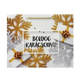 Boldog Karácsonyt Feliratú Ajándéktasak