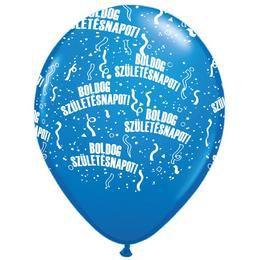 11 inch-es Boldog Születésnapot Dark Blue Lufi (25 db/csomag)