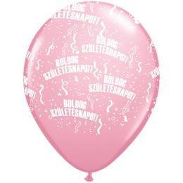 11 inch-es Boldog Születésnapot Pink Lufi (25 db/csomag)
