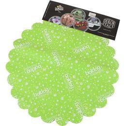 Boldog Szülinapot Feliratú Lime Zöld Szülinapi Kerek Dekorációs Textil - 48 cm-es, 24