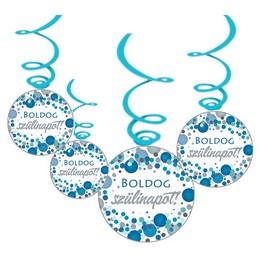 Boldog Szülinapot! Kék Pasztell Konfettis Függő Dekoráció