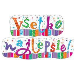 Szlovák Nyelvű - Boldog Szülinapot-Vsetko Najlepsie! Banner Dekoráció
