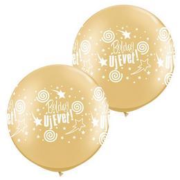 Boldog Új Évet! Arany Szilveszteri Léggömb, 76 cm