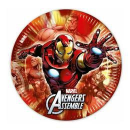Bosszúállók (Avengers) Parti Tányér - 23 cm, 8 db-os