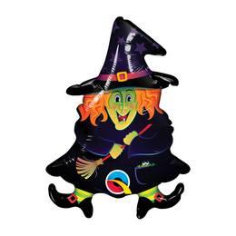 14 inch-es Boszi - Wacky Witch - Fólia Lufi Halloweenre