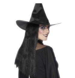 Fekete Boszorkány Női Parti Paróka