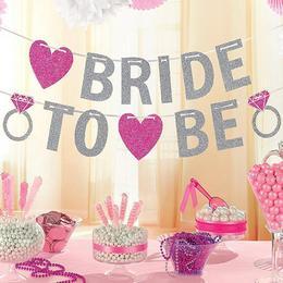Bride To Be Csillogó Banner Dekoráció Lánybúcsúra - 365 cm
