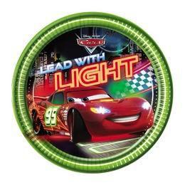Cars Neon City - Verdák Parti Tányér - 23 cm, 8 db-os