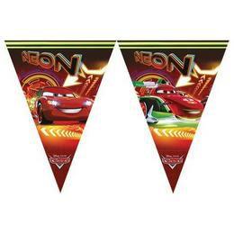 Cars Neon - Verdák Parti Zászlófüzér