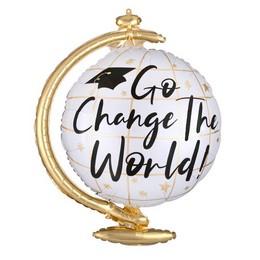Change the World - Földgömb Shape Fólia Lufi Ballagásra