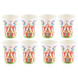 Cirkuszi Papír Parti Pohár - 8 db-os, 250 ml