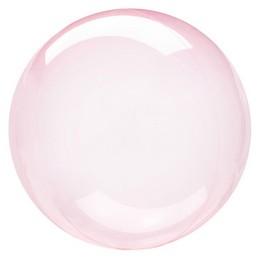 Clearz Crystal Sötét Rózsaszín - Dark Pink Áttetsző Lufi