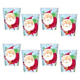 Mikulás Mintás Karácsonyi Pohár - 270 ml, 8 db-os