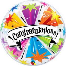 22 inch-es Congratulations Banner - Gratulálunk Héliumos Bubble Lufi