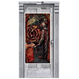 Creepy Carnevil Ajtó Dekoráció - 85 cm x 165 cm