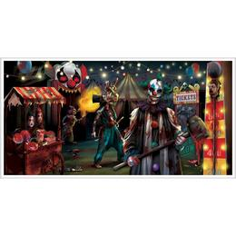Creepy Carnevil Parti Banner Halloweenre