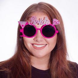 Csillogó Bride Pink Szemüveg Lánybúcsúra