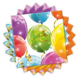 Csillogó Lufis Szalvéta - Sparkling Balloons