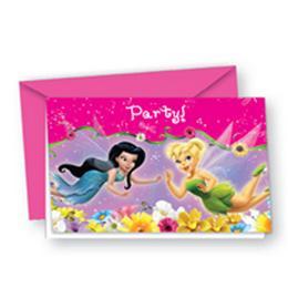 Csingiling - Fairies Springtime Parti Meghívó és Boríték - 6 db-os