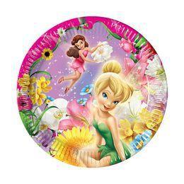 Csingiling - Fairies Springtime Parti Tányér - 20 cm, 10 db-os
