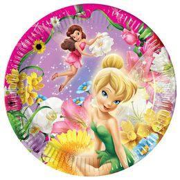 Csingiling - Fairies Springtime Parti Tányér - 23 cm, 10 db-os