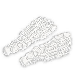 Csontváz Láb Matrica Dekoráció Halloweenre - 4 db-os