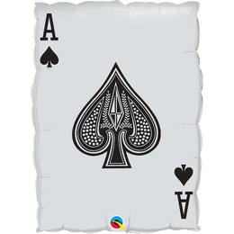 30 inch-es Kártyalap - Queen of Hearts/Ace of Spades Héliumos Fólia Lufi