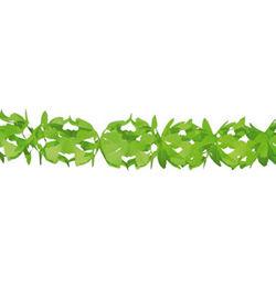 Zöld Dekorációs Parti Papír Füzér - 6 m