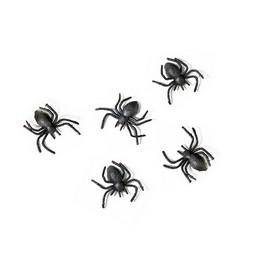 Dekorációs Fekete Pókok - 3 cm, 10 db-os