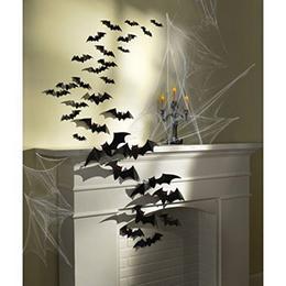 Denevér Karton Dekoráció Halloween-ra - 30 db-os
