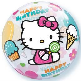 22 inch-es Disney Hello Kitty Birthday Szülinapi Héliumos Bubble Lufi