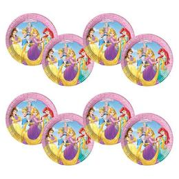 Hercegnők Disney - Princess Heart Strong Parti Tányér - 20 cm, 8 db-os