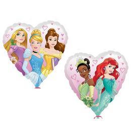 Disney Hercegnők Szív Alakú Héliumos Fólia Lufi, 46 cm