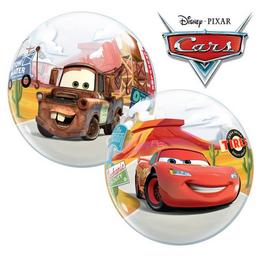 22 inch-es Disney Lightning McQueen & Mater Héliumos Bubbles Lufi