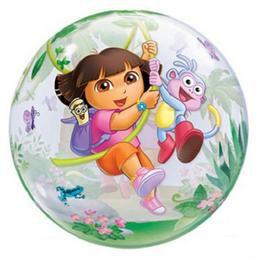 22 inch-es Disney Dora the Explorer & Boots Bubbles Héliumos Lufi