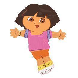 Dóra, a Felfedező - Dora, The Explorer Mini Shape Fólia Lufi Pálcán