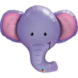 39 inch-es Elefánt Fej - Ellie the Elephant Héliumos Fólia Lufi