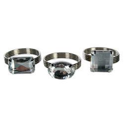 Eljegyzési Gyűrű Formájú Szalvétadísz - 4 db-os