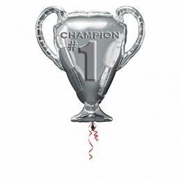 Első Helyezett Bajnoki Kupa - Trophy Champion #1 Super Shape Fólia Lufi