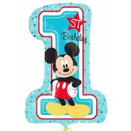 28 inch-es Mickey Egér Első Szülinapi Super Shape Fólia Lufi